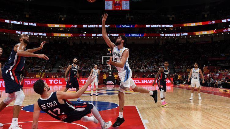 La demi-finale de la Coupe du Monde de basket a opposé la France à l'Argentine le 13 septembre 2019. (GREG BAKER / AFP)