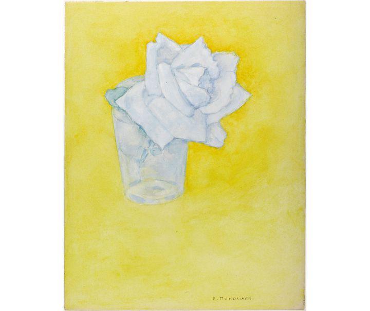 """Piet Mondrian, """"Rose dans un verre"""", après 1921 (© Kunstmuseum Den Haag, The Hague, the Netherlands)"""
