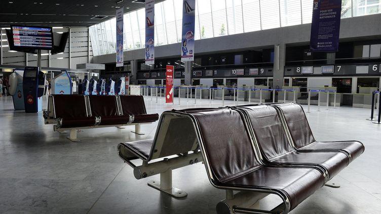 L'aéroport de Montpellier lors d'une grève de trois jours en juin 2013. (PASCAL GUYOT / AFP)