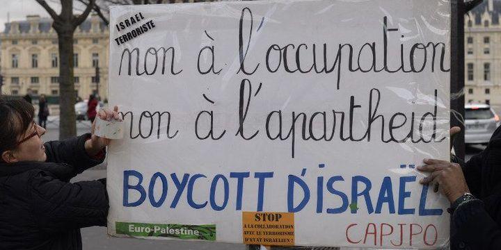 Manifestation en faveur d'un boycott d'Israël à Paris le 10 janvier 2016 (CITIZENSIDE/FRANCOIS PAULETTO / )