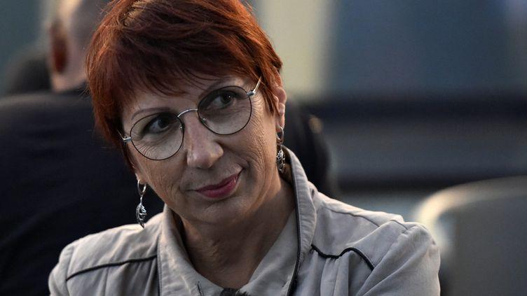 La maire de Besançon, Anne Vignot, le 28 juin 2020. (FRANCK LALLEMAND / MAXPPP)
