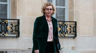 La ministre du Travail, Muriel Pénicaud, quitte le Palais de l'Elysée, à Paris, le 4 mars 2020. (KARINE PIERRE / HANS LUCAS / AFP)