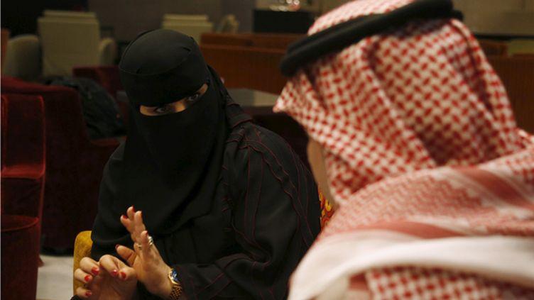 (Fawzia al-Harbi, candidate aux élections municipales en Arabie saoudite © Reuters/Faisal Nasser)