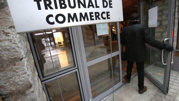 L'entrée du tribunal de commerce de Belfort le 9 décembre 2014 (illustration). (/NCY / MAXPPP)