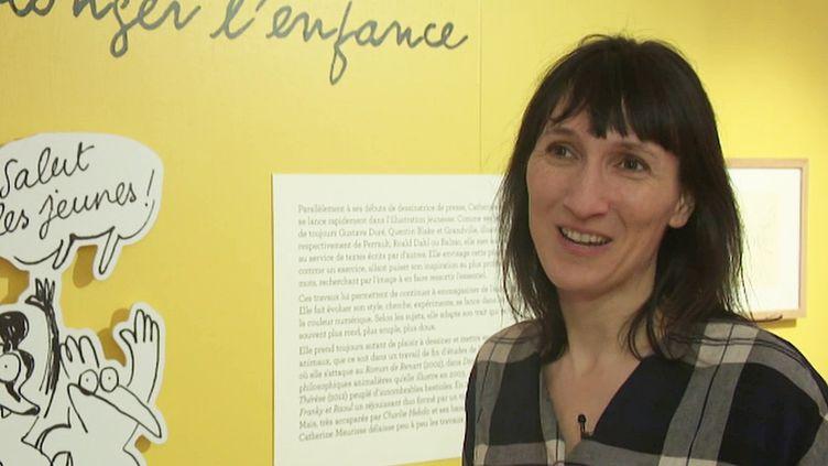 CatherineMeurisse à Angoulême (P. Simon / France Télévisions)