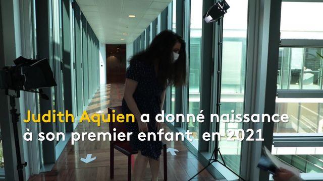 """Maternité : Judith Aquien dénonce les trois premiers mois """"sous silence"""""""