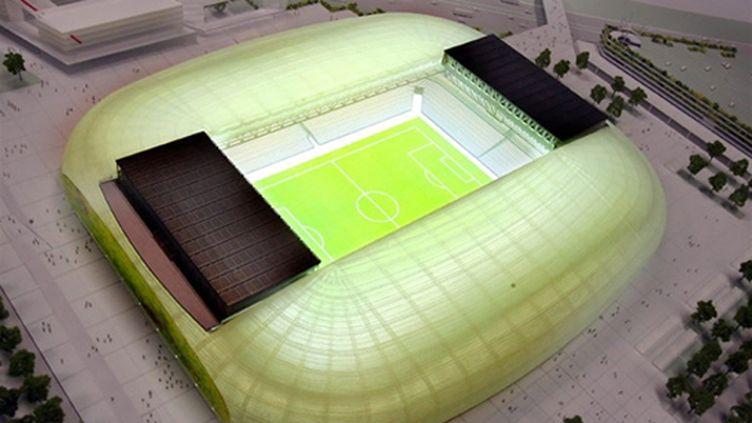 Le futur Grand Stade de Lille (PHILIPPE HUGUEN / AFP)