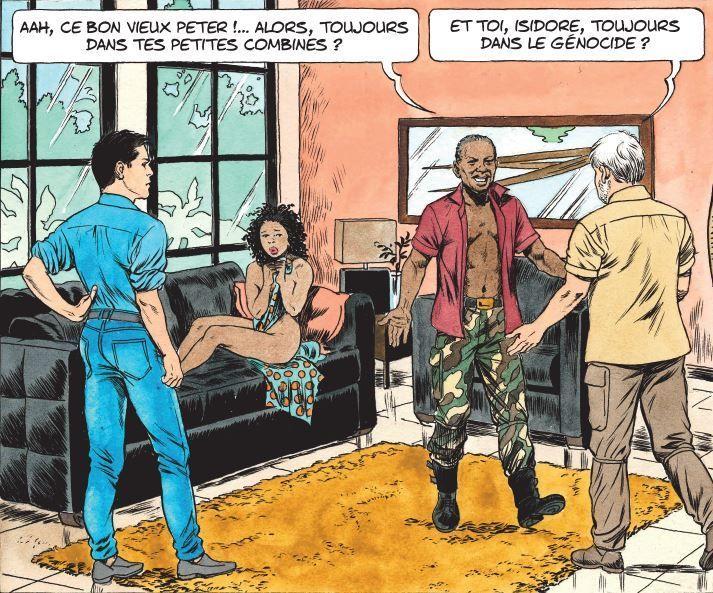Extrait de la bande dessinée «Kivu» de Simon et Van Hamme (Le Lombard éditions) (Simon Van Hamme/ Le Lombard)
