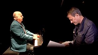 Hugues Leclère et Francis Huster à Nancy  (Capture d'écran France 3/Culturebox)