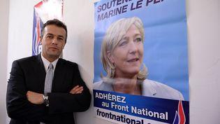 Laurent Lopez, le nouveau conseiller général Front national de Brignoles (Var), le 7 octobre 2013. (ANNE-CHRISTINE POUJOULAT / AFP)