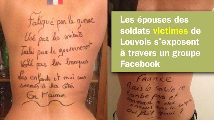 Sur un groupe Facebook, des femmes de soldats en colère contre Louvois et le ministère de la Défense. (CAPTURE D'ÉCRAN FACEBOOK)