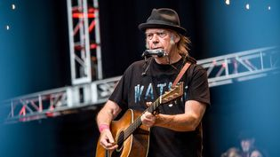 Neil Young en concert le 23 octobre 2016 à Mountain View, Californie.   (Amy Harris/AP/SIPA)