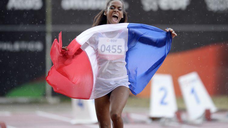 Mandy François-Elie, vice-championne paralympique du 100m. (PHILIPPE DESMAZES / AFP)
