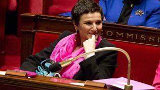 La ministre de la Famille, Dominique Bertinotti, assiste aux questions au gouvernement, le 18 décembre 2013 à l'Assemblée nationale. (NICOLAS KOVARIK / CITIZENSIDE / AFP)