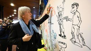 Le dessinateur Plantu en 2019. (FREDERICK FLORIN / AFP)