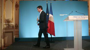 Manuel Valls à l'hôtel deMatignon, à Paris, le 29 mars 2015. (JACQUES DEMARTHON / AFP)