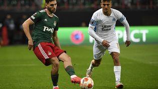 Cengiz Under a ouvert le score face au Lokomotiv Moscou. (ALEXANDER NEMENOV / AFP)