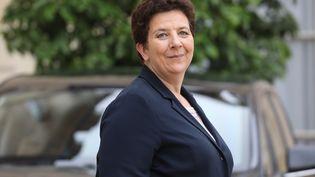 Frédérique Vidal,ministre de l'Enseignement supérieur, quitte l'Elysée, le 12 juin 2018, à Paris. (LUDOVIC MARIN / AFP)