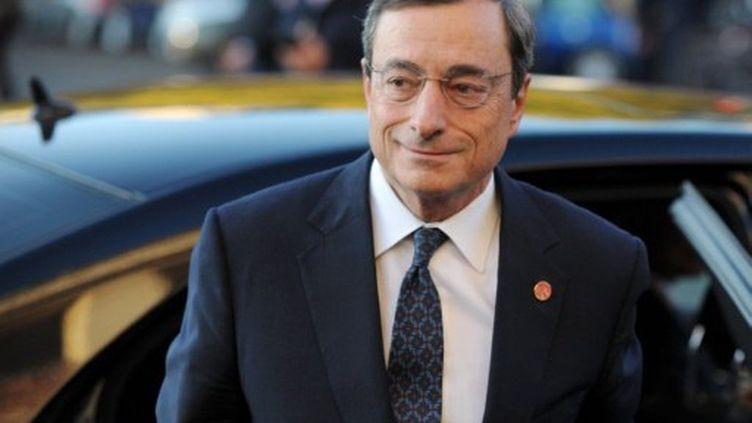 Mario Draghi prendra les rênes de la BCE mardi. (ERIC PIERMONT / AFP)