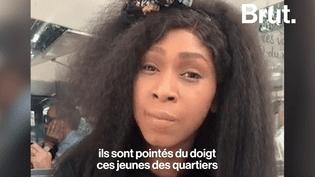 La soeur d'Adama Traoré parle de la présence des forces de l'ordre dans les quartiers. (Brut)