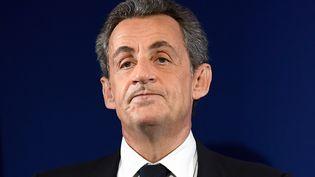 Nicolas Sarkozy lors d'un meeting à Paris, le 20 novembre 2016. (ERIC FEFERBERG / AFP)