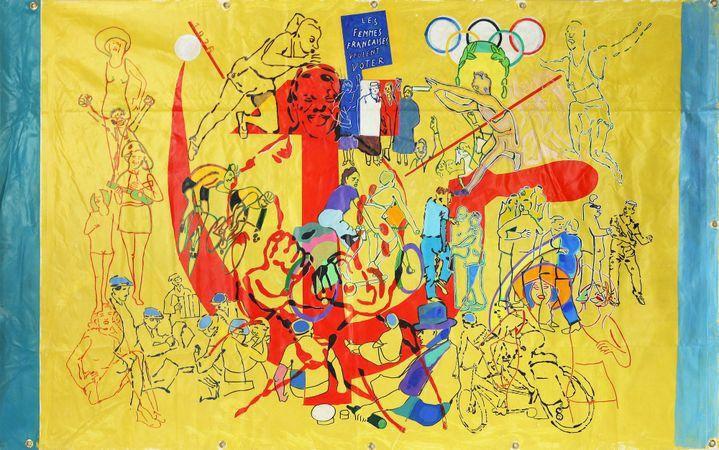 Gérard GUYOMARD, 1936, 2016, acrylique sur bâche, 160 x 200 cm  (Art Absolument)