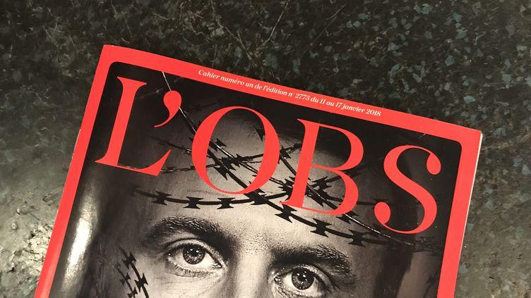 """La une de l'hebdomadaire """"L'Obs"""", le 15 janvier 2018. (FRANCEINFO)"""