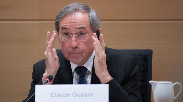 Claude Guéant, le 3 mai 2017, à Bruxelles (Belgique). (BENOIT DOPPAGNE / BELGA)