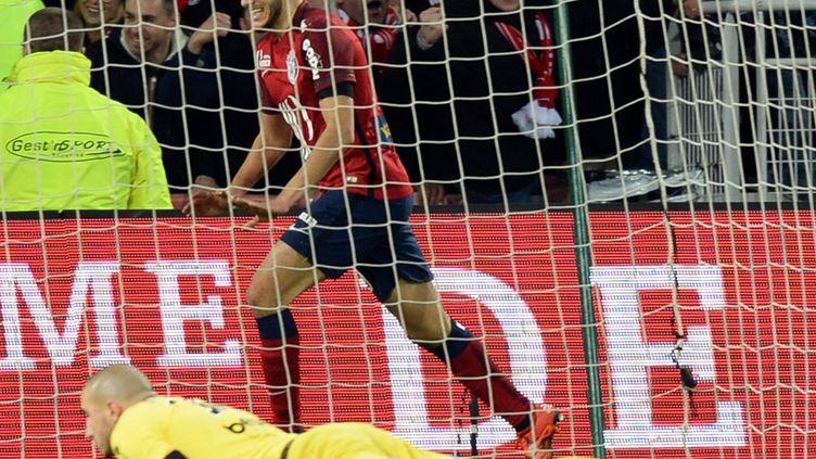 Yassine Benzia, buteur avec le LOSC, contre Saint-Etienne (DENIS CHARLET / AFP)