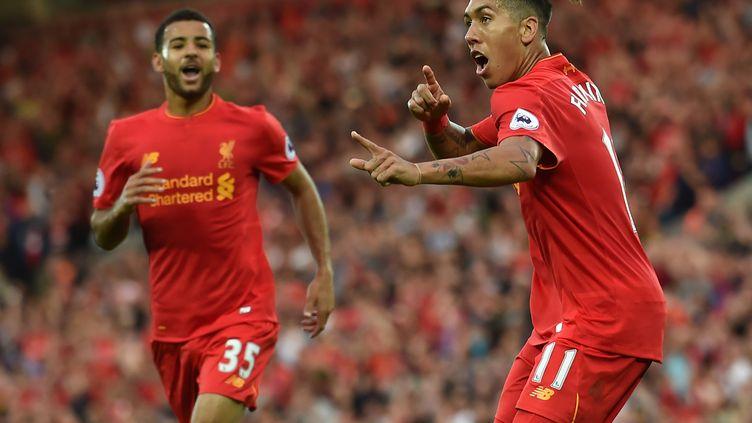 La joie du Brésilien de Liverpool Firmino (PAUL ELLIS / AFP)