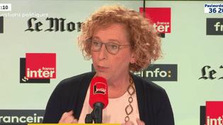 Muriel Pénicaud, ministre du Travail, sur franceinfo, le 14 octobre 2018. (FRANCEINFO)