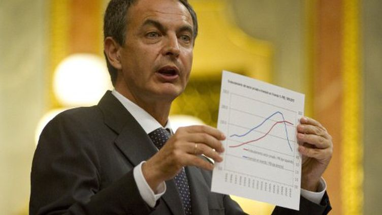 Le président du gouvernement espagnol, José Luis Rodriguez Zapatero, le 28 juin 2011. (PIERRE-PHILIPPE MARCOU / AFP)