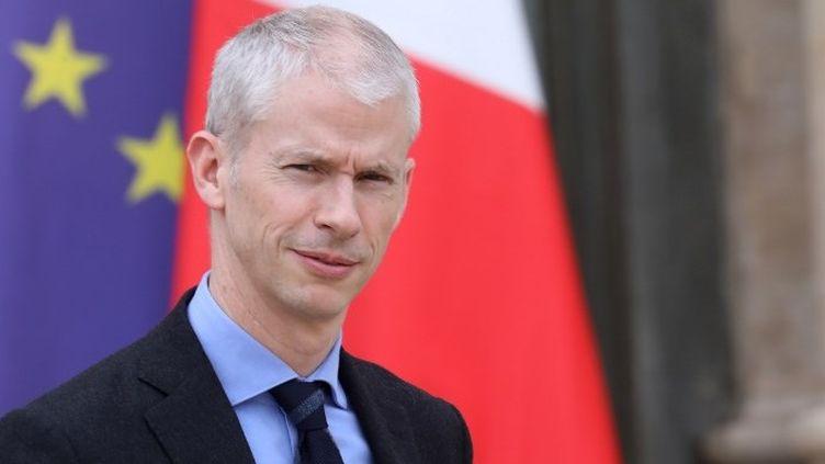 Le ministre de la Culture Franck Riester à l'Elysée en mars 2019.  (Ludovic MARIN / AFP)