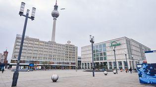 Alexanderplatz, à Berlin, le 13 janvier 2021. (ANNETTE RIEDL / DPA / AFP)