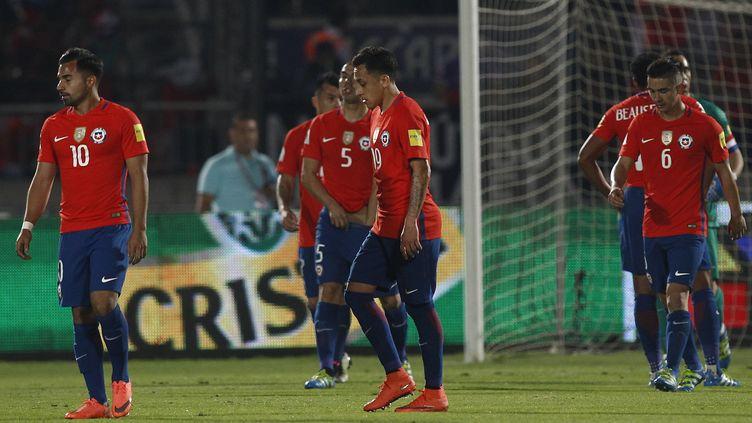 Les joueurs chiliens devront attendre avant de retrouver le stade de Santiago du Chili, suspendu pour un match supplémentaire.  (MARCELO HERNANDEZ/PHOTOSPORT / PHOTOSPORT)