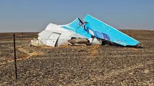 Des fragments de l'Airbus A321 qui s'est crashé dans le Sinaï, en Egypte, le 31 octobre 2015. (RIA NOVOSTI / AFP)