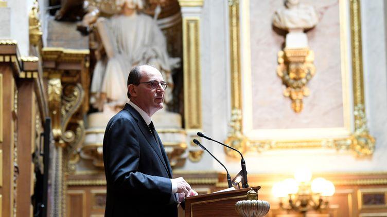 Le Premier ministre, Jean Castex, le 16 juillet 2020 au Sénat. (BERTRAND GUAY / AFP)