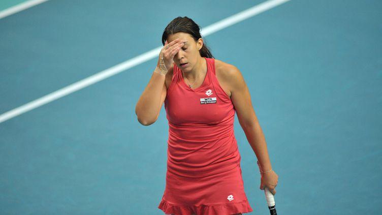 Marion Bartoli déçue en finale face à Kerber (PHILIPPE LECOEUR / MAXPPP)