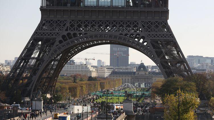 La tour Eiffel, le 16 novembre 2015. (MAXPPP)
