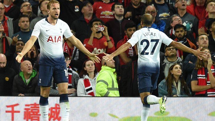 Le bonheur de Harry Kane et Lucas Moura (Tottenham) (OLI SCARFF / AFP)