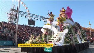 Le carnaval de Nice a été écourté à cause du Covid-19 (FRANCEINFO)