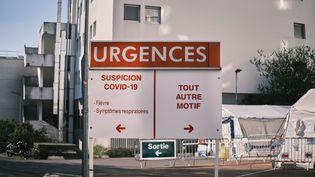 A l'hôpital Ambroise-Paré de Boulogne-Billancourt (Hauts-de-Seine), le 25 mars 2020. (BENOIT DURAND / AFP)