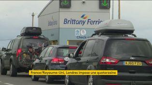 File d'attente pour prendre le ferry vers le Royaume-Uni (FRANCEINFO)