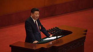Xi Jinping, le 18 octobre 2017. (NICOLAS ASFOURI / AFP)
