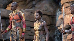 """Danai Gurira, Florence Kasumba et Lupita Nyong'o dans""""Black Panther""""  (Marvel Studios 2018)"""