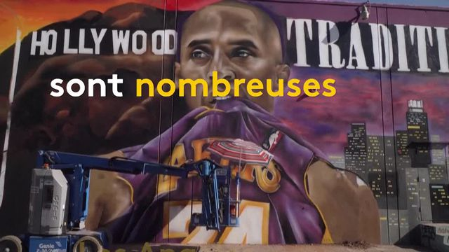 Basket-ball : de nombreux fans rendent hommage au joueur Kobe Bryant