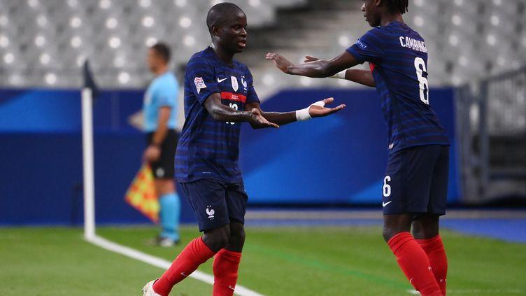 Eduardo Camavinga remplace NGolo Kanté contre la Croatie pour sa première sélection à 17 ans et 9 mois (FRANCK FIFE / AFP)