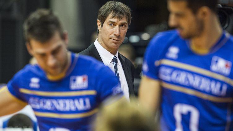 Laurent Tillie, le sélectionneur de l'équipe de France de volleyball (JOHN MACDOUGALL / AFP)