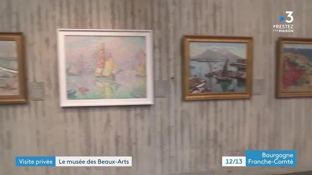 Le musée des beaux-Arts de Besançon confiné