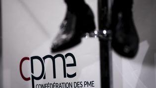 Le logo de la CPME, le 6 mars 2017. (VINCENT ISORE / MAXPPP)